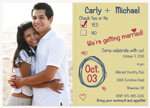 Engagement Party Invitations, Handmade Party Design