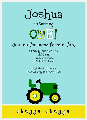 Farm Fun Kids' Birthday Invitations