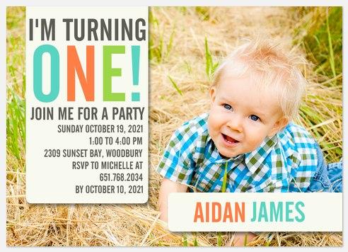 Big One Fun Kids' Birthday Invitations
