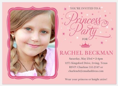 Princess Star Kids' Birthday Invitations