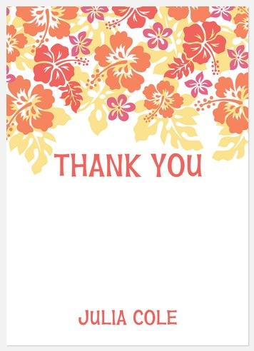 Luau Love Thank You Cards