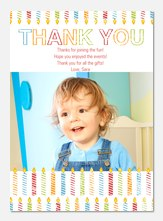 Striped Candles - Kids Thank You Cards
