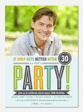 Adult Birthday Party Invitations - Mint B-Day