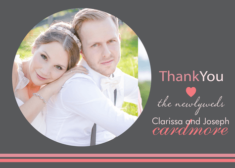 Thank You Cards , Newlywed Thanks Design