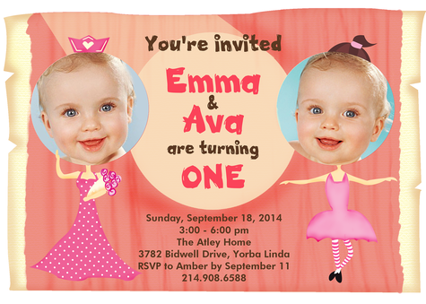 Kids Birthday Invitations, Sweet Birthday Stars Design
