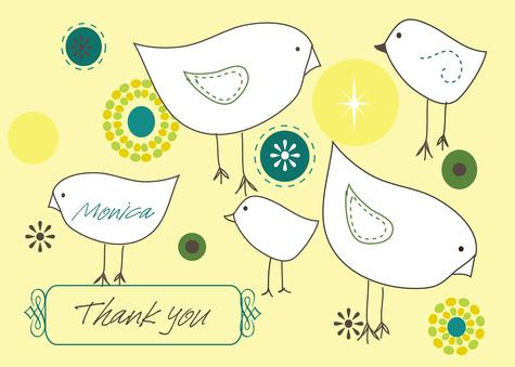 Thank You Cards , Farm Friends Design
