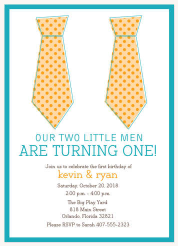 Kids Birthday Invitations, Little Misters Design