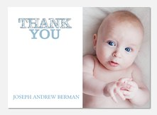 Little Boy Love - Baby Thank You Cards