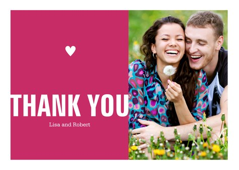 Thank You Cards , Hearts Design