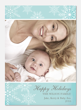 Baby Holiday Cards - Blue Sweet Holiday