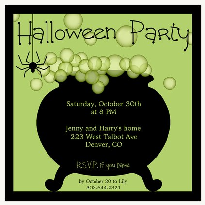 Halloween Party Invitations, Halloween Punch Design