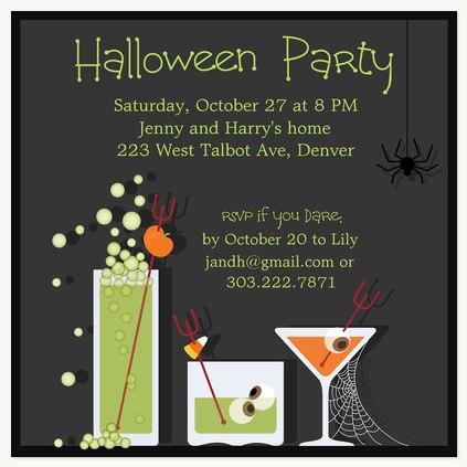 Halloween Party Invitations, Halloween Toasts Design