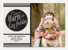 Dog Christmas Cards - Black & White Holiday