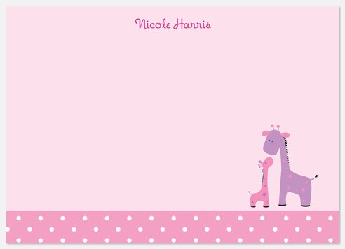Baby 'n Me Pink Thank You Cards