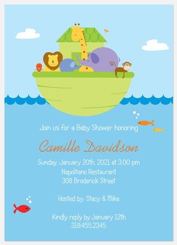 Blue Seas Baby Shower Invitations
