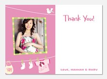 Pink Yummy -  Baby Thank You Notes