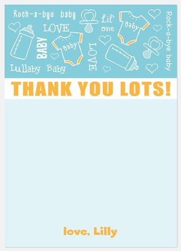 Lullaby Blue Thank You Cards