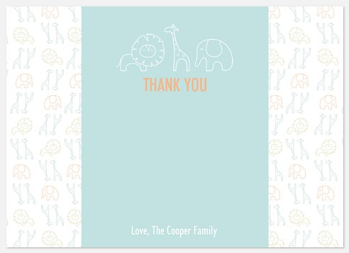 Jungle Tumble Blue Thank You Cards