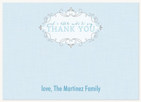 Baby Boy Thank You Cards Lil Baby Blue