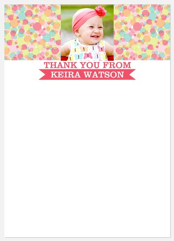 Candy Cool Pink Thank You Cards