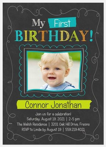Chalk Play Kids' Birthday Invitations
