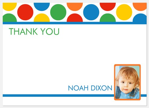Primary Party Thank You Cards