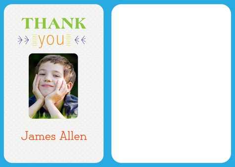 Kids Thank You Cards, Special Day Blue Thank You Design
