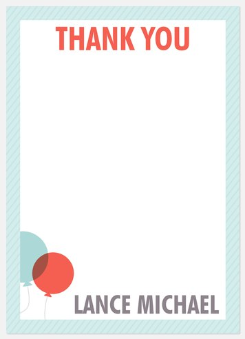 Two Blue Pin Thank You Cards