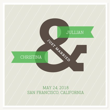 Wedding Announcements, Ampersand Design