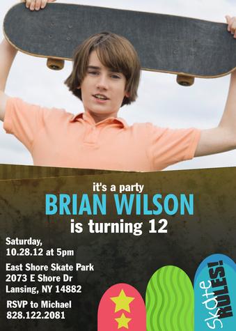 Teen Birthday Invitations, Freestyle Fun Design