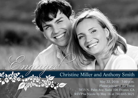 Engagement Party Invitations, Lilies and Love Design