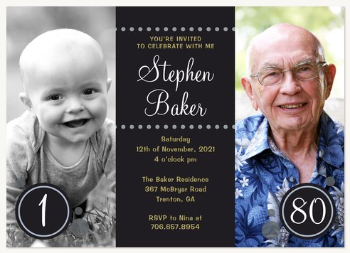 Thru The Years Adult Birthday Party Invitations