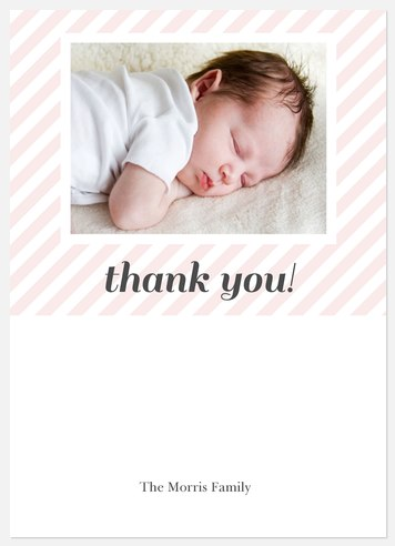 Sheer Pink Thank You Cards