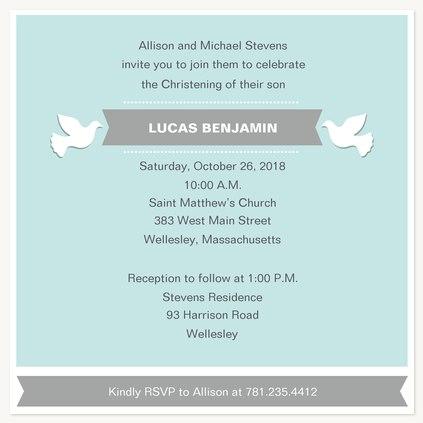 Baptisms & Christening Invitations, Dove Flight Design