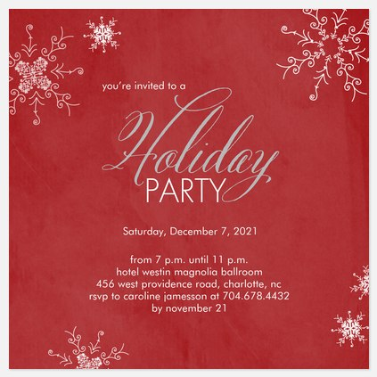 Ruby Nights Holiday Party Invitations