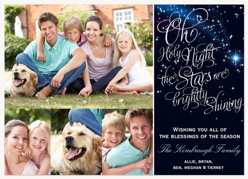 Personalized Holiday Cards, Oh Holy Night Design