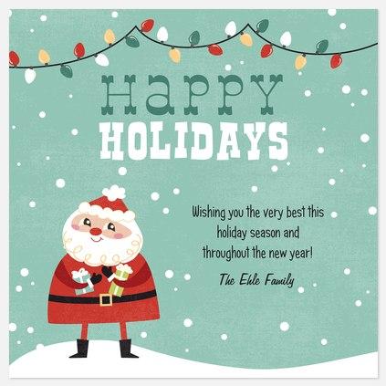 Santa Glow Holiday Photo Cards