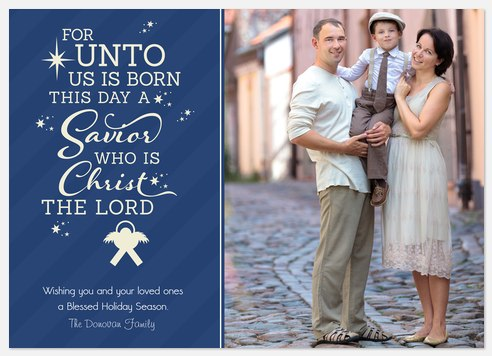 Classic Scripture Holiday Photo Cards