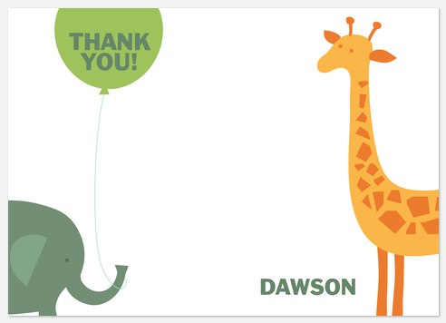 Jungle Fun Thank You Cards