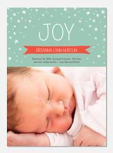 Winter Joy - Holiday Birth Announcements
