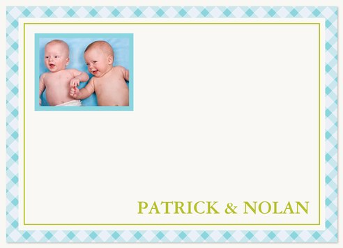 Baby Boy Thank You Cards Blue Duo