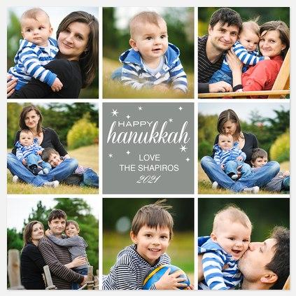 Eight x Happy Hanukkah Photo Cards
