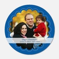 Super Blue Circle - Hanukkah photo cards