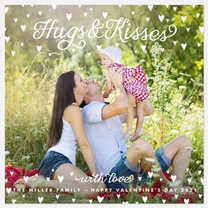 Hugs & Kisses Valentine Photo Cards