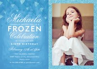 Girl Birthday Invitations - Winter Princess