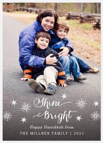 Shine Brightly Hanukkah Photo Cards