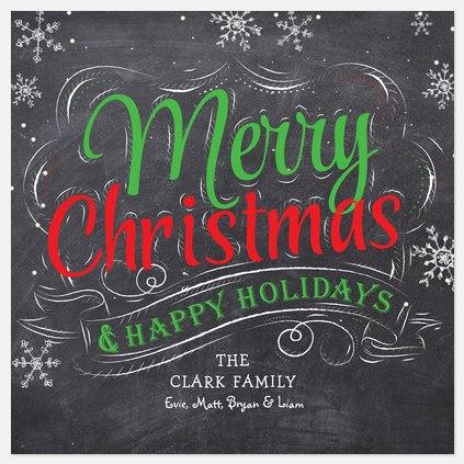 Vintage Chalkboard Holiday Photo Cards