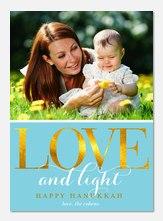 Hanukkah photo cards - Love & Light