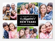 Happiest New Year - new years photo cards