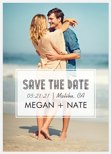 Simply Classic Save the Date Photo Cards